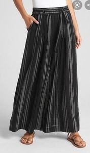 GAP Stripe Gauze Wide-Leg Pants